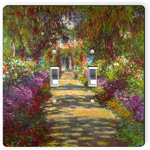 Rikki Knight 3379 Double Toggle Claude Monet Art Giverny Design Light Switch Plate by Rikki Knight