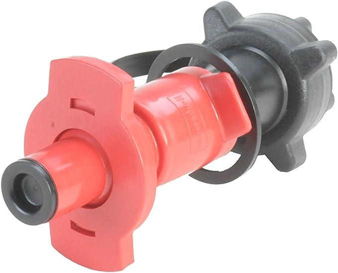Hünersdorff Motorrad Sicherheits Einfüllsystem Aus Hd Pe Für Kraftstoff Ideal Zum Aufsetzen Auf Motorradtanköffnungen Schwarz Rot Auto
