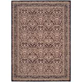 Safavieh Lavar Kerman Collection LVK618D Traditional Red and Navy Cotton Area Rug (8′ x 10′) (8′ x 10′) Review