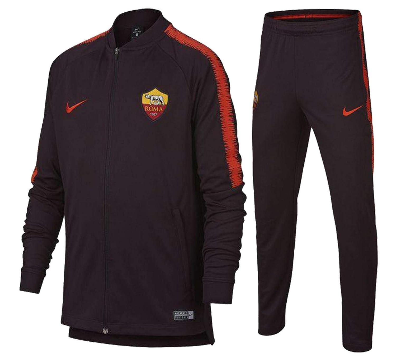 Nike 2018-2019 AS Roma Dry Tracksuit (Burgundy) - Kids: Amazon.es ...