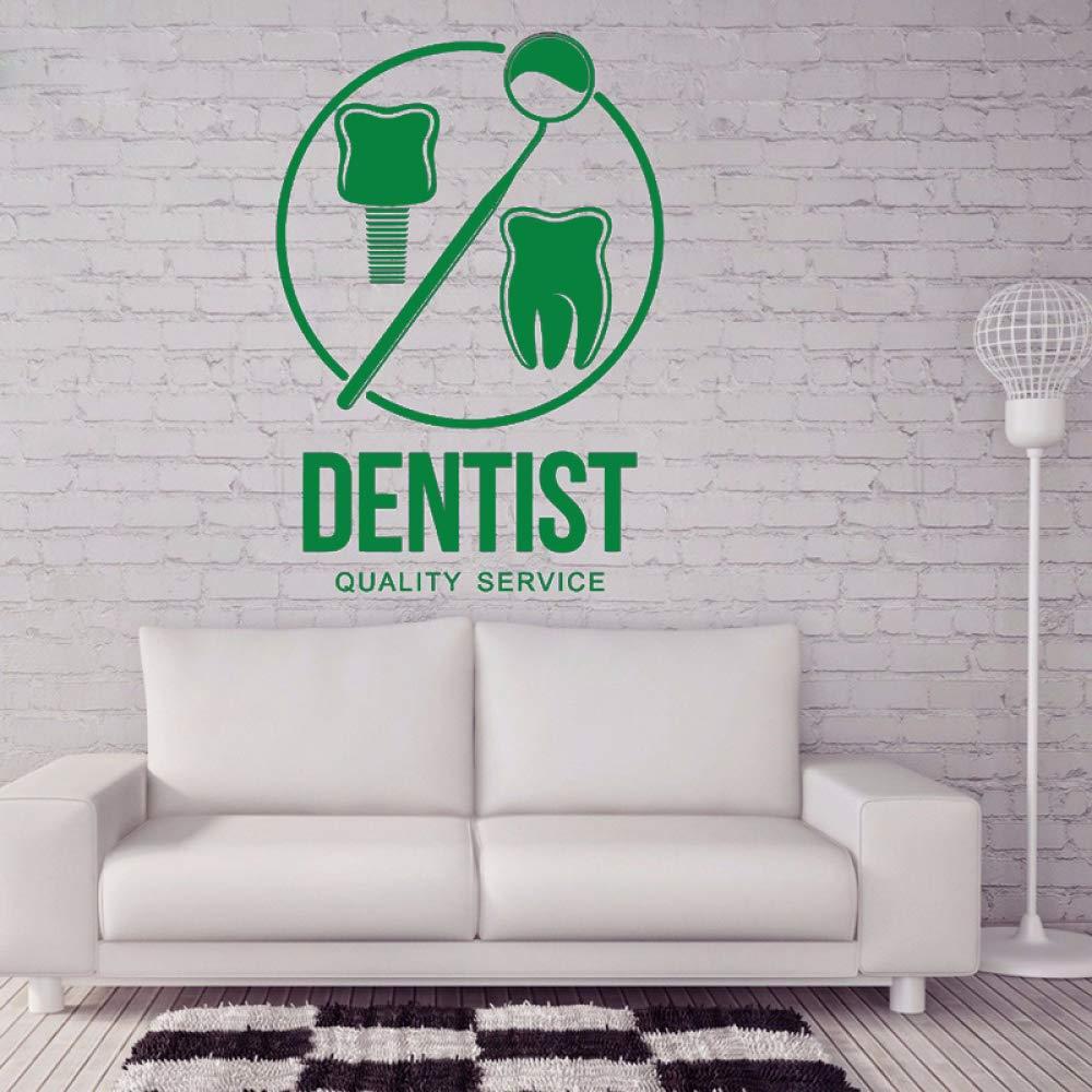 guijiumai Vinilo Tatuajes de Pared Clínica Dental Cartel Oral ...