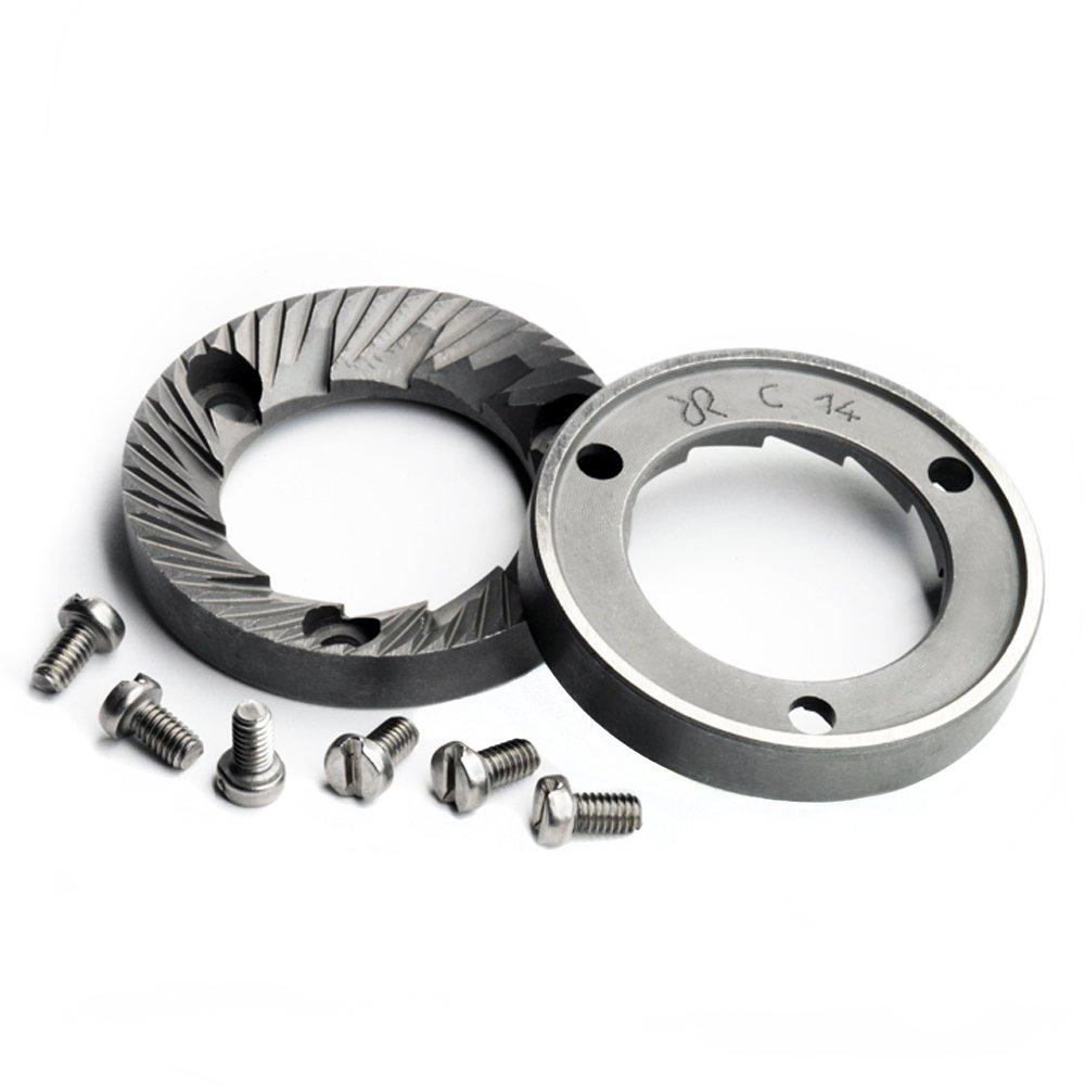 Rancilio Grinder Burr & Screw Replacement Set for Rocky & MD40 Espresso Grinders - Genuine OEM Racilio Parts