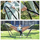 SONGMICS Double Hammock with Stand, 82.7 x 59.1