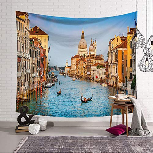 - Boyouth World Famous Architecture Tapestry Wall Hanging,Water City Venice Pattern Digital Print Art Wall Tapestry for Living Room Bedroom Dorm Decor,59.1 Inch by 51.2 Inch