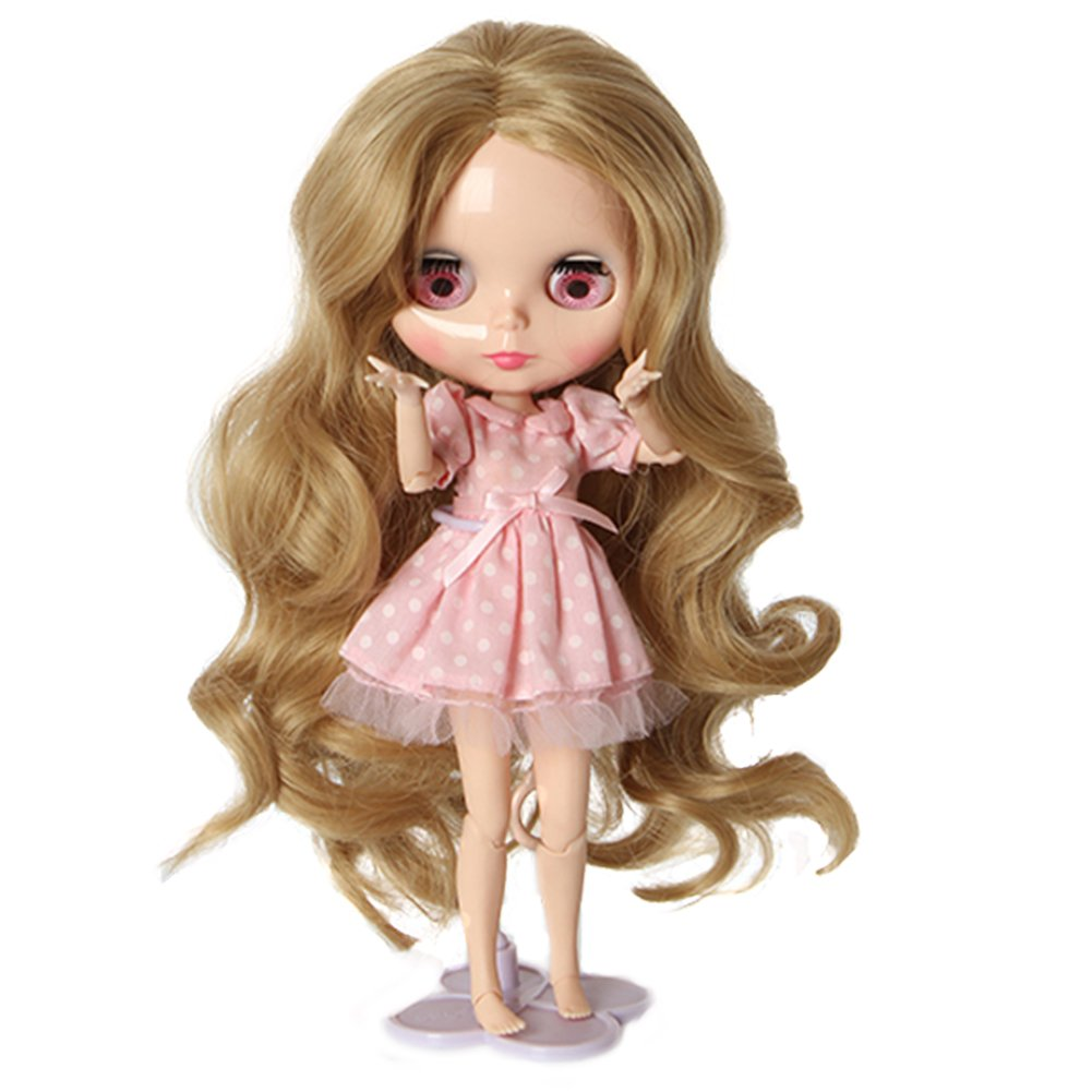 Wigs Only!Heat Resistant Synthetic Blonde Body Wavy Blythe/Pullip Doll Wig Gift for Your Baby Doll Leeswig 4336857497