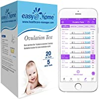 Easy@Home Ovulation Test Kit, 20 Ovulation Test Strips and 5 Pregnancy Test Strips,20 LH + 5 HCG