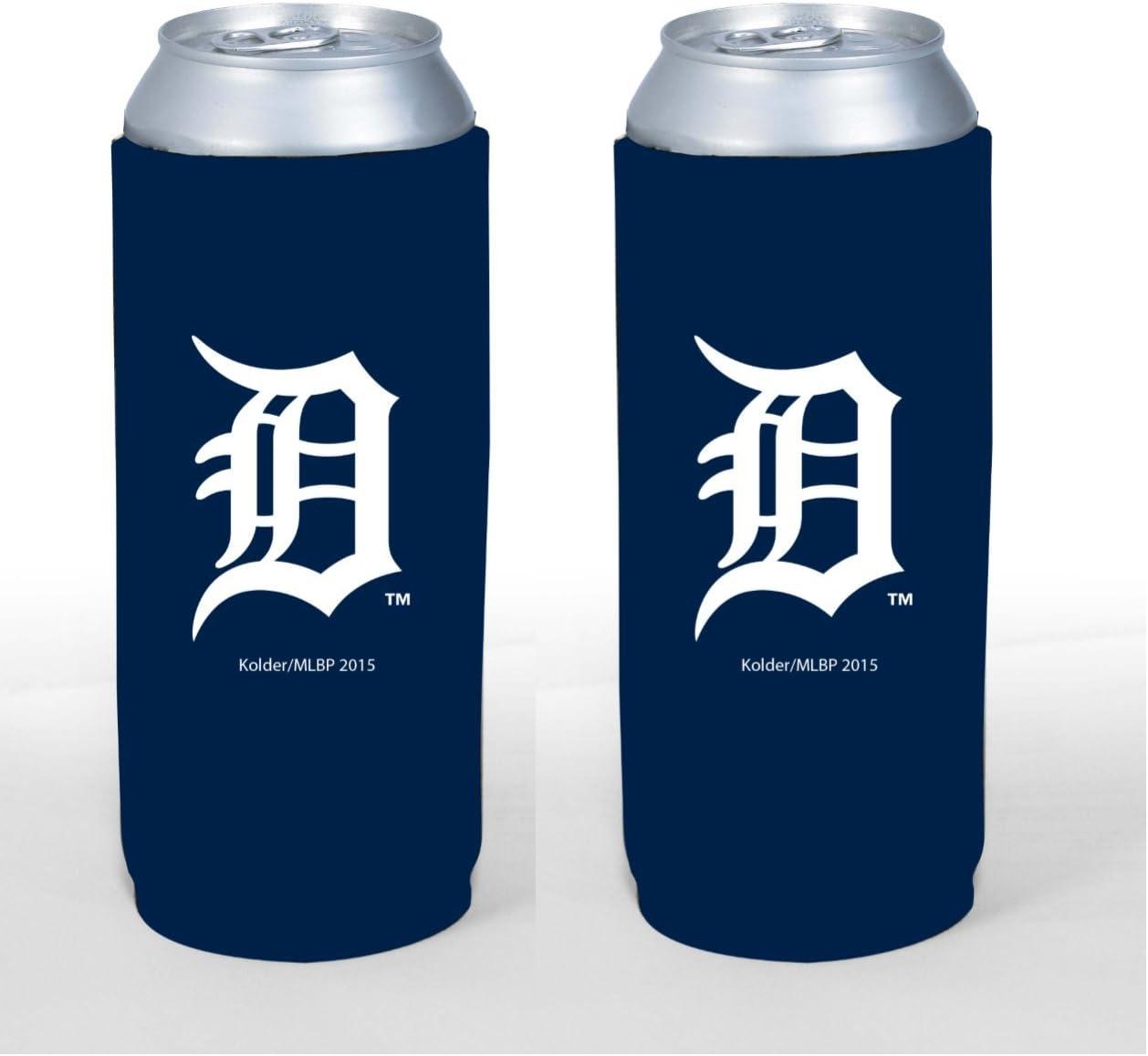 MLB Baseball Team Color Logo Tall Boy 24oz Neoprene Can Holder Sleeve Cooler 2-Pack