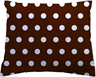 product image for SheetWorld - Toddler Pillowcase Hypoallergenic Made in USA - Polka Dots Brown 13 x 17