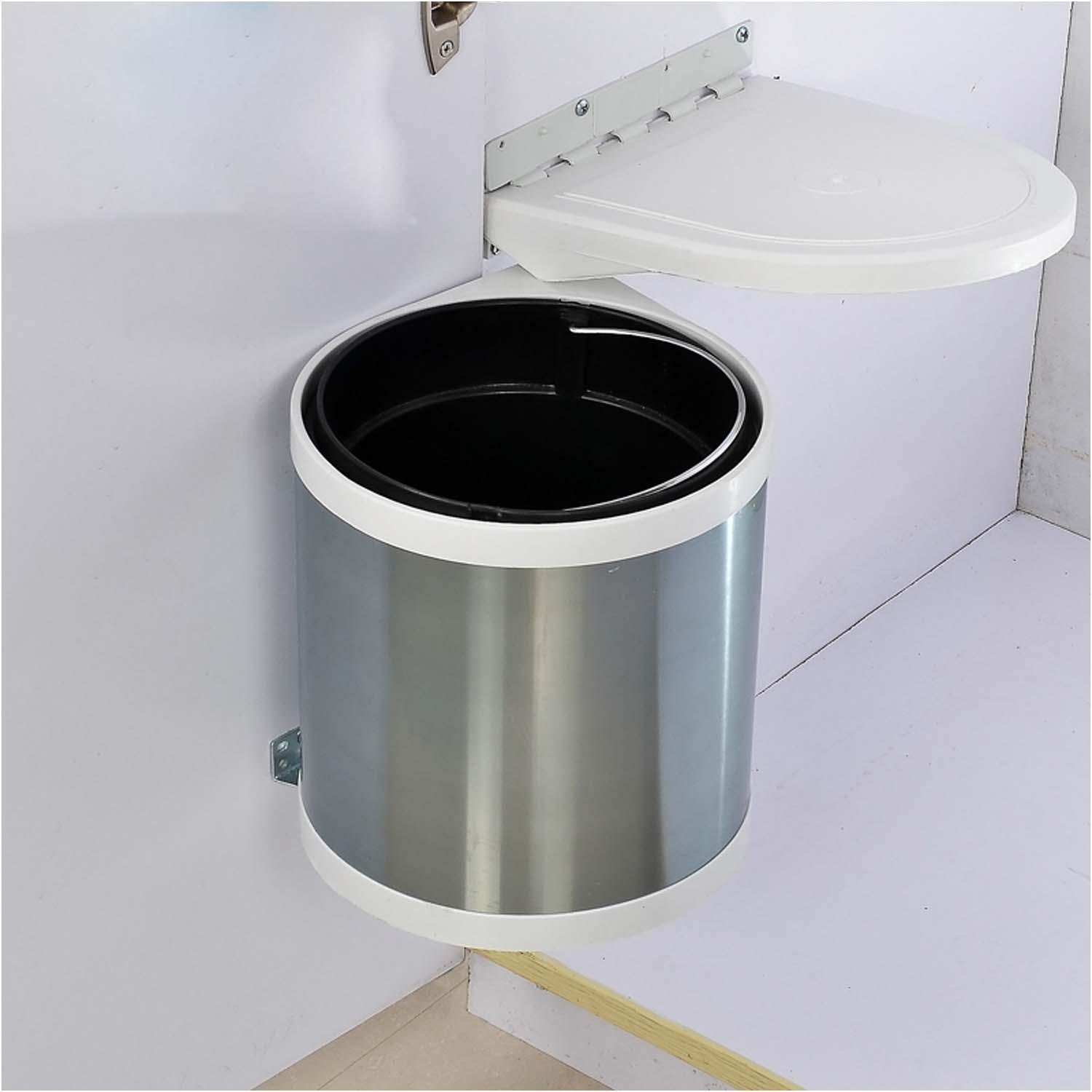 OOFYHOME Built-in covered trash can, stainless steel kitchen built-in trash cabinets hidden open door hanging door by OOFYHOME
