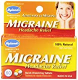 Hyland's Migraine Headache Relief Tablets, Natural Migraine Relief, 60 Count