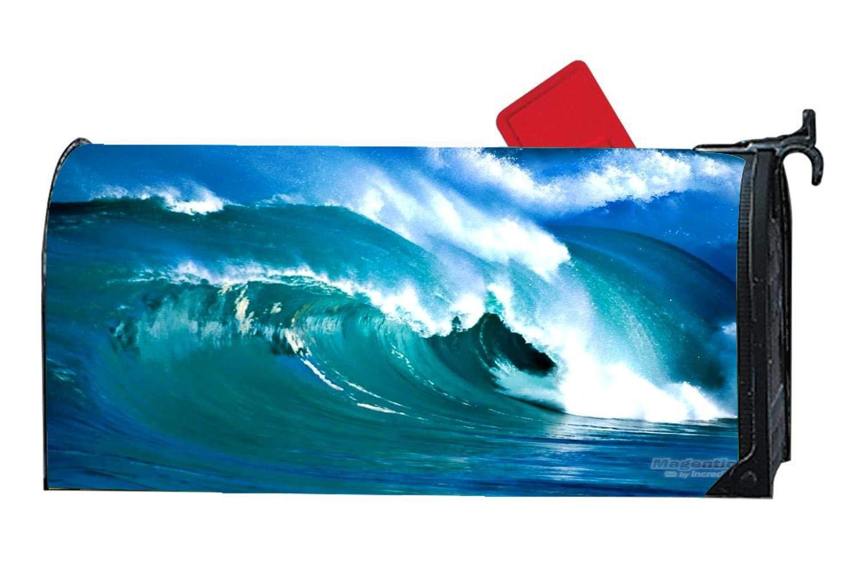 Customized Ocean, Flowers Decorative Mailbox Covers & Magnetic Mailwraps Vinyl - Power Ocean Wave