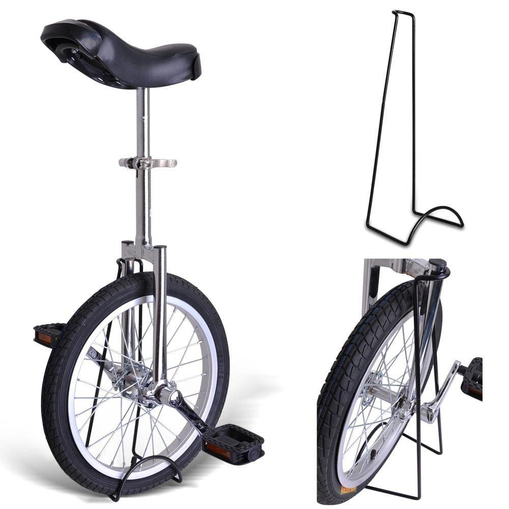 Kobe Unicycle with Aluminum Wheel Rim 24'' Silver Chrome