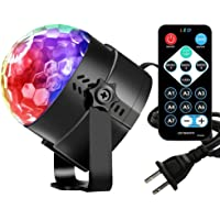 Vnina Disco Ball Party Lights -Led Party Lights With Remote Control DJ Lighting ,Mini Strobe LightsKaraoke Decoration 7 Colors Gifts for Kids Birthday Indoor Gatherings Christmas