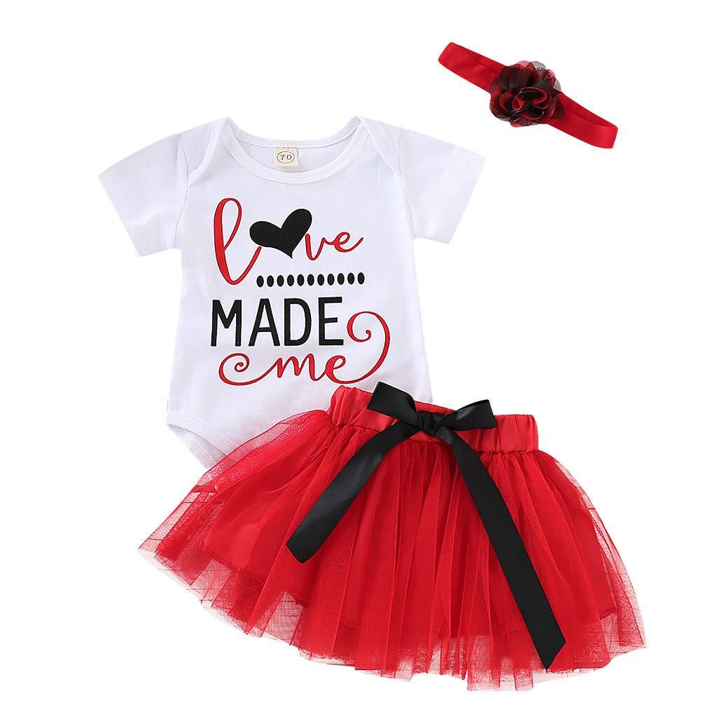 27715a4deca9 Amazon.com  Newborn Baby Girl 3 PC Valentine s Outfits Set
