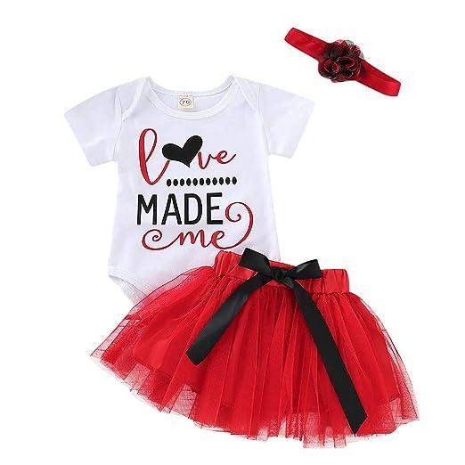 3cdaaf187de Amazon.com  Clothful 💓 Newborn Infant Baby Girl Letter Romper+Tutu Tulle  Skirt Valentine Outfits Set Gray  Clothing