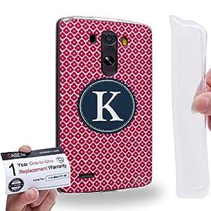 Case88 [LG G3] Gel TPU Carcasa/Funda & Tarjeta de garantía - Art Typography Fashion Alphabet K Style Art1254