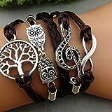 Sumanee Infinity - Tree Of Life - Owl - Music Symbol Bracelet Bracelet Braid
