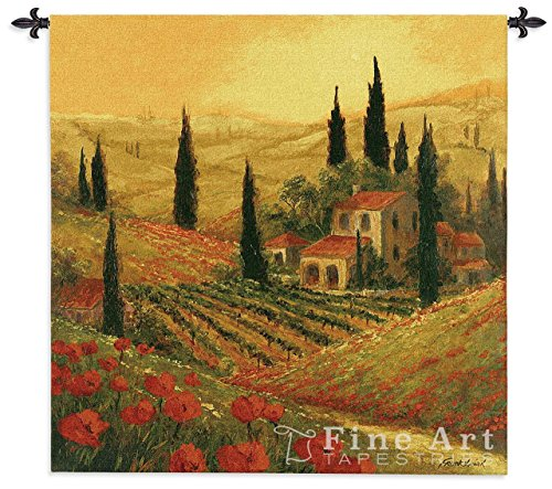 Poppies Of Toscano II Wall Tapestry