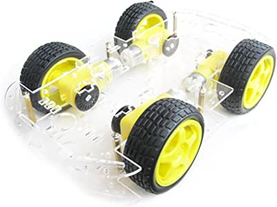 EMO 4 wheel 2 layer Robot Smart Car Chassis Kits with
