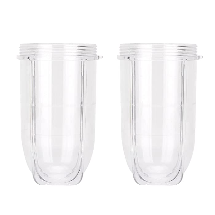 Magic Bullet Replacement Parts,QT 2 PCS Replacement 16 Ounce Tall Jar Cups Fit For Magic Bullet Blender Juicer Mixer 250W MB1001 Accessories …