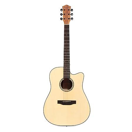Donner DAG-1C Guitarra Acústica con Cutaway 41 Pulgadas Cuerpo de Caoba y Pícea Color de Madera Natural con Set de Accesorios: Amazon.es: Instrumentos ...