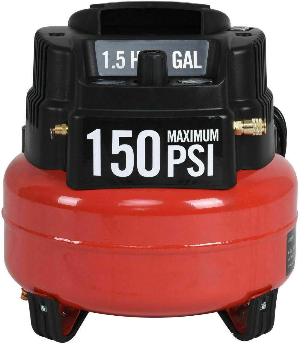 Akasaw98 6 Gallon 150 PSI Oil-Free Pancake Air Compressor 1.5 HP Motor Portable