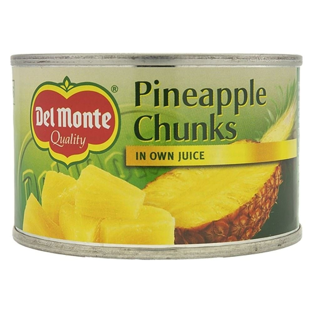 Del Monte Pineapple Chunks in Own Juice (227g) - Pack of 6