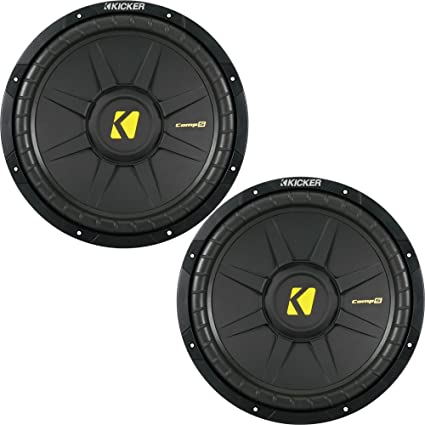 9bbbeefbb086 Image Unavailable. Image not available for. Color  KICKER CompS 12 Inch 4  Ohm Subwoofer 40CWS124 Bundle