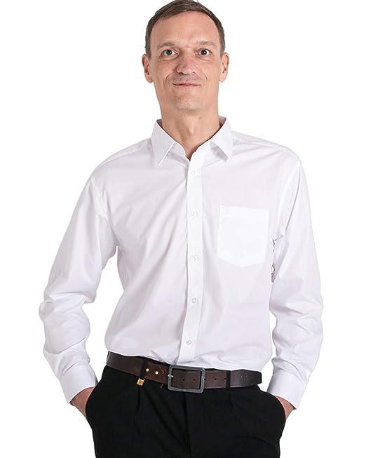 368aaf8ebb9 Meerway Camisa para Hombre de Manga Larga Formal Camisas clásicas de  Negocios de Ocio Regular fit: Amazon.es: Ropa y accesorios