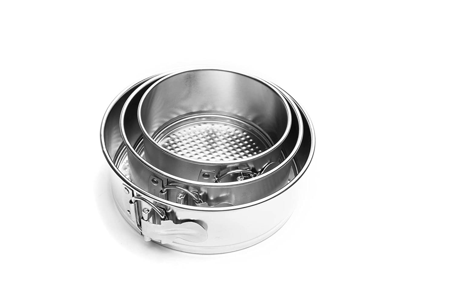 Fox Run 4563 Mini Springform Pan Set, Tin-Plated Steel, 3-Piece