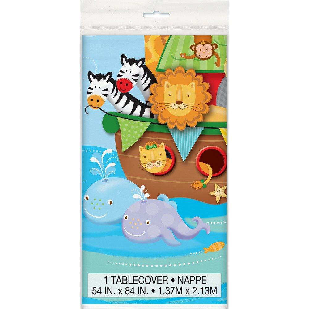 amazon com noah u0027s ark baby shower plastic tablecloth 84