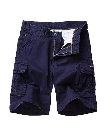 a6a8136007 EAGLIDE Men's Regular Fit Cotton Twill Lightweight Cargo Shorts  (L6031-Blue, ...