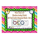 What Time Is it? QR Task Cards & Response Sheets - Random Analog Clocks - Set 2
