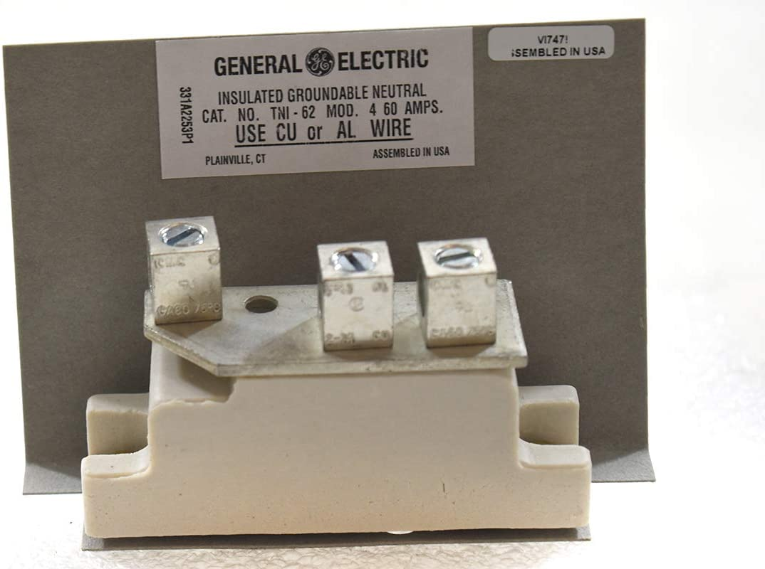 GE TNIJ61 Insulated GROUNDABLE Neutrals 600 V 30 Amp Lug Wire Range CU 14-8 for sale online