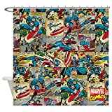 CafePress - Captain America Collage - Decorative Fabric Shower Curtain (69''x70'')