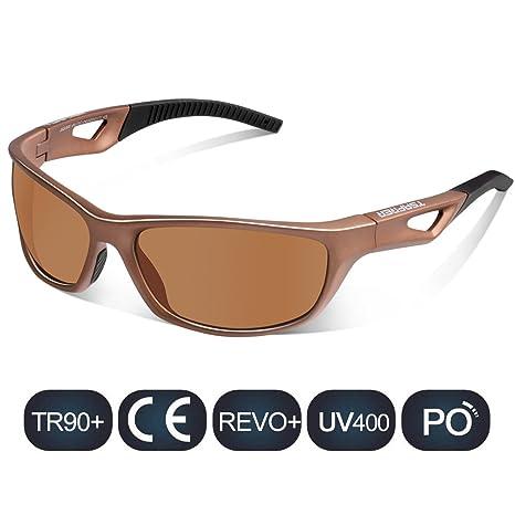 TSAFRER ciclismo Gafas de sol polarizadas Unisexo, gafas deportivas para hombres y mujeres, UV400