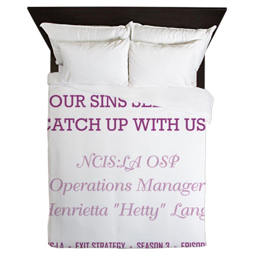 CafePress - SOONER OR LATER - Queen Duvet Cover, Printed Comforter Cover, Unique Bedding, Microfiber