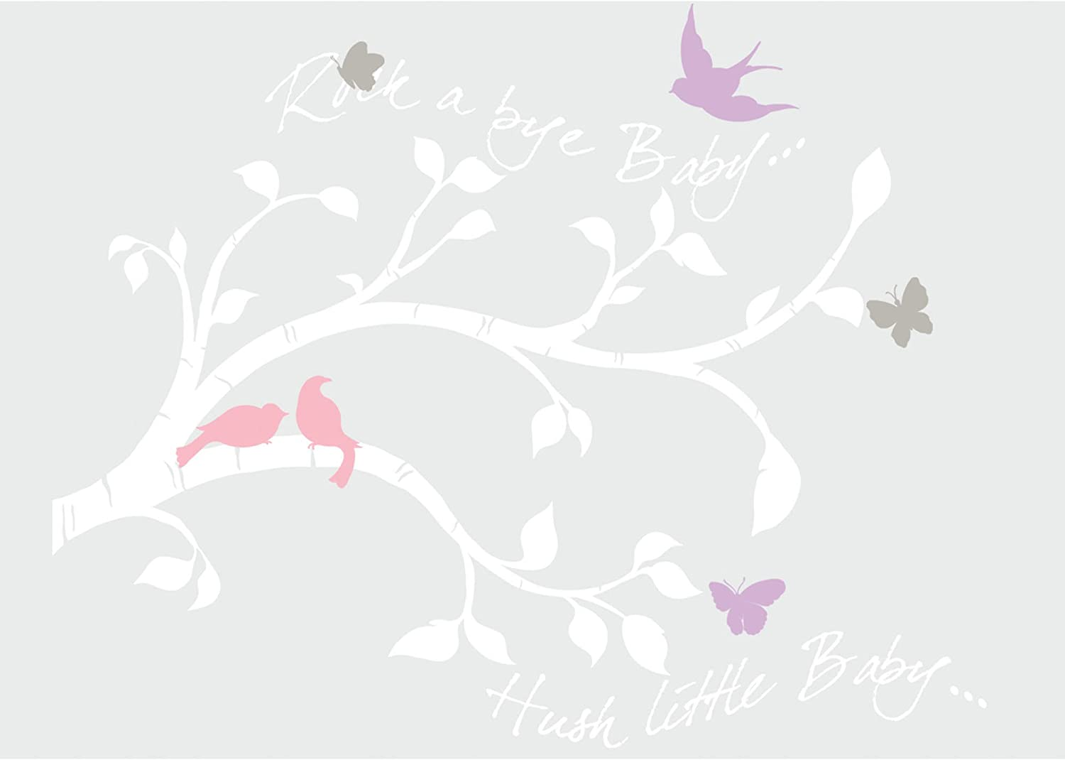 RoomMates Rock-A-Bye Bird Branch Peel and Stick Giant Wall Decals