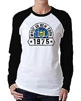 Idakoos - Made in New York 1975 - Usa States - Women Raglan Long Sleeve T-Shirt
