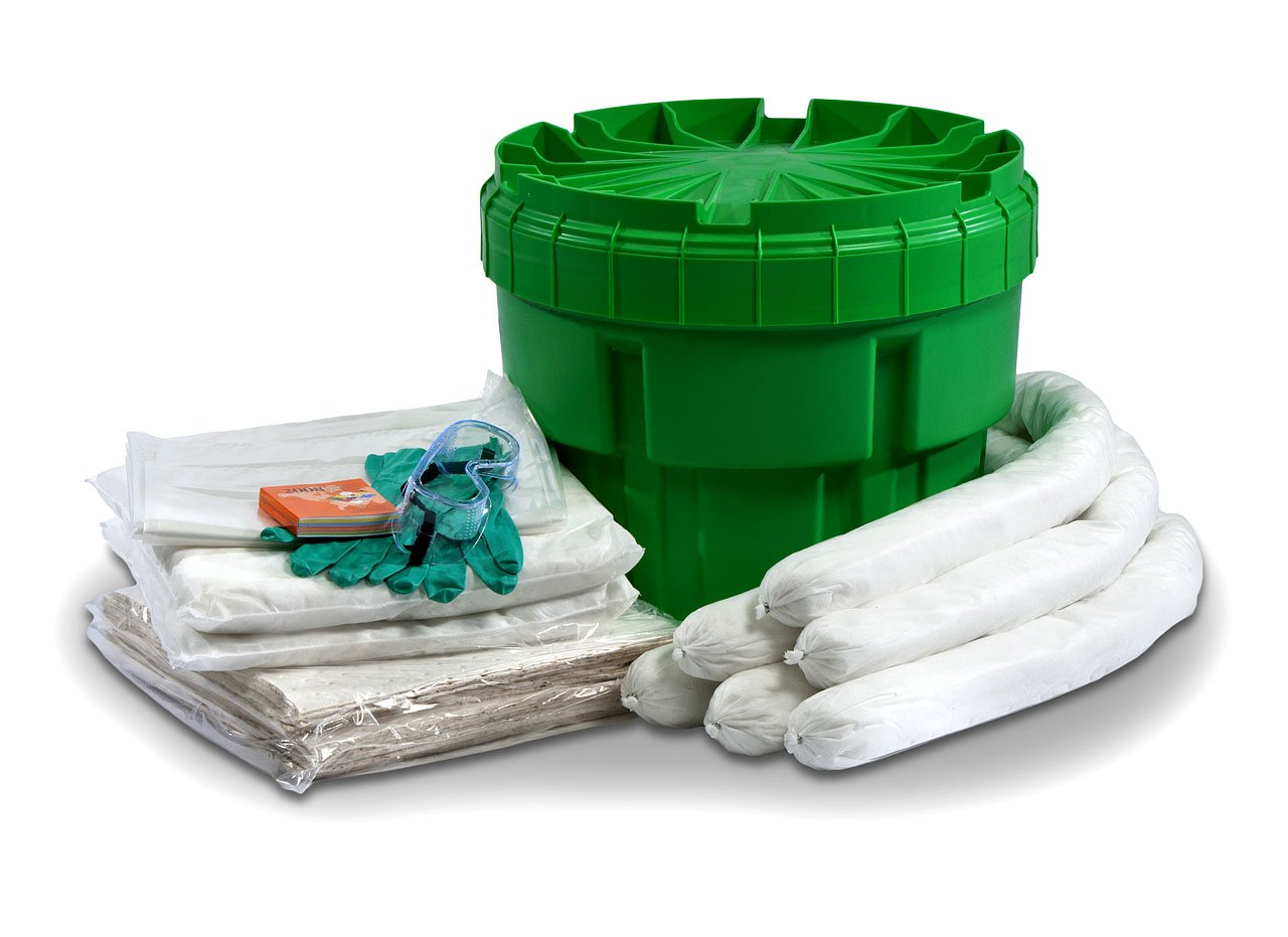 ESP SK-O20 34 Piece 20 Gallons Oil Only Absorbent Ecofriendly Spill Kit, 14 Gallons Absorbency, White