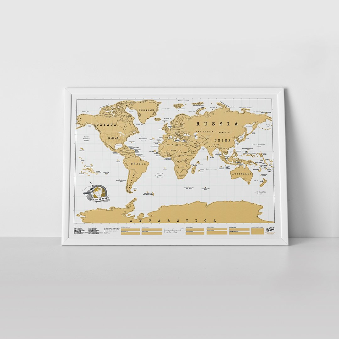 Amazon scratch map original personalized world map poster amazon scratch map original personalized world map poster wall maps office products gumiabroncs Image collections