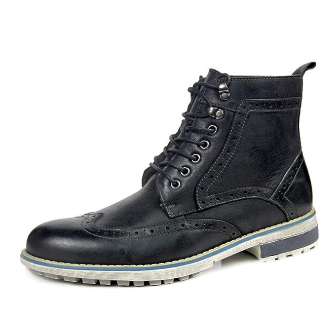 Zapatos Brogue Para Hombre Con Cordones Oxfords Transpirables Botines Con Tacón Alto Para Caballeros Zapatos Para Cricket: Amazon.es: Ropa y accesorios