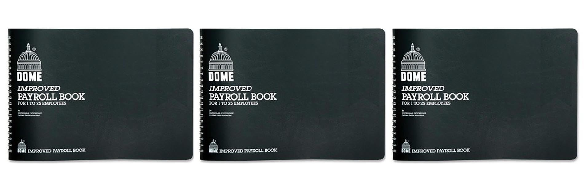 Set of 3 Dome Simplified Payroll Record by DomeSkin