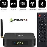 Android 7.1 TV Box,RunSnail TX6 Android Box 4GB DDR3 32GB ROM BT5.0 Dual WiFi 2.4G+5G Quad Core 1080p 4K HDR Smart TV Media Box