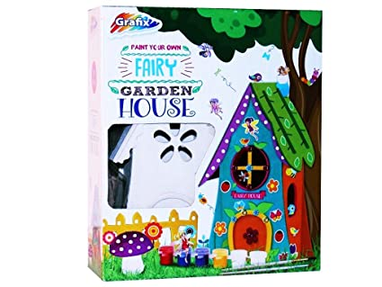 Amazon Com Paint Your Own Garden Fairy House Home Kids Art Kit