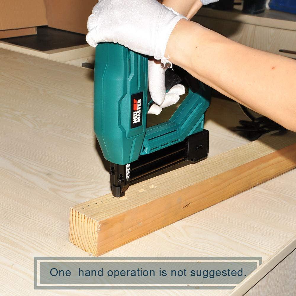 Outil robuste pour tapisserie am/élioration de la maison et travail du bois Pistolet /à clouer /électrique NTC0040 Avec 400 agrafes /à couronne /étroite de 6,35 mm et 100 clous