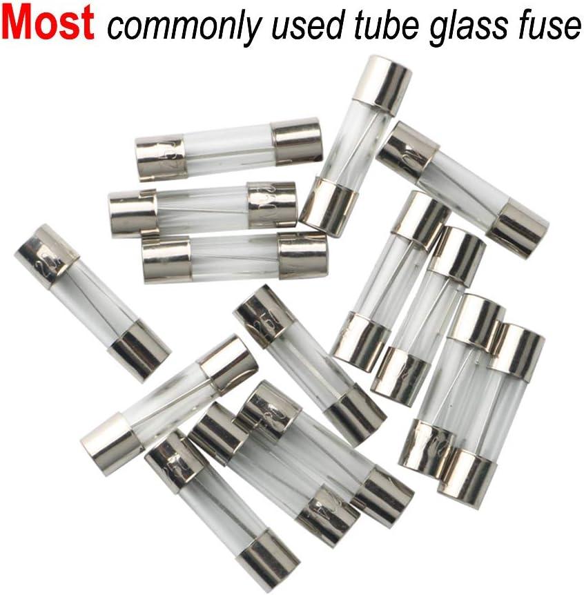 100pcs 1a 250v rápida Fast Blow Glass Tubo Fusible 5x20mm f1al250v al por mayor