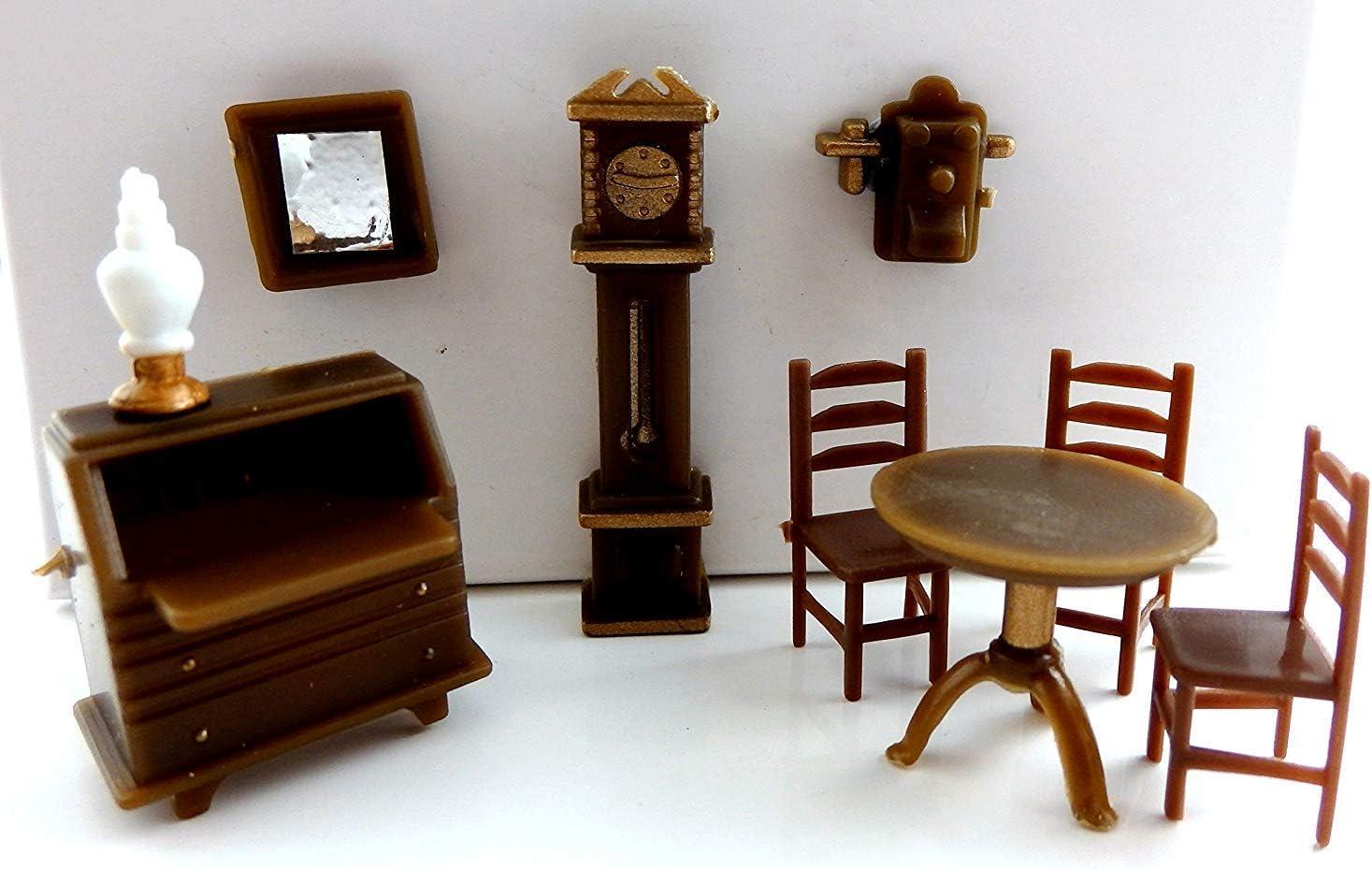 Melody Jane maison de poupées miniature 1:48 en plastique étude Bureau Ensemble de meubles