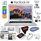 6Ave Apple 13.3 MacBook Air 128GB SSD + Blue 2.4 GHz Slim Optical Wireless Bluetooth Mouse + 2-Year Extended Warranty Bundle
