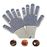 #9: GIG Oven Gloves,Angela Forster Oven Mitt BBQ gloves,Microwave glove,Heat Insulated Gloves,Professional protective gloves for grilling,cooking and camping,indoor and outdoor(single package)